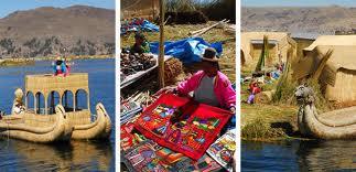 isla de los uros en el lago titicaca de puno